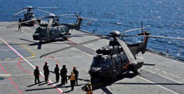 Forças Armadas do Brasil realizam operação conjunta a bordo do NAM Atlântico