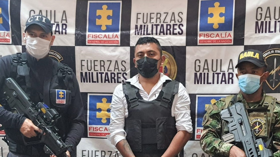 Colômbia captura o indivíduo conhecido como Camilo 40, líder de Los Contadores