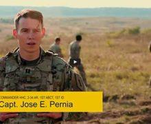 Presentación del Capitán José Pernia en el mes de la herencia hispana