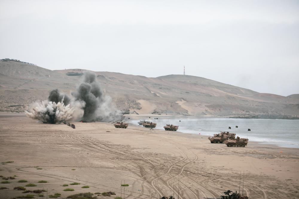 Perú lidera fuerza multinacional en desembarco anfibio durante ejercicio UNITAS LXII