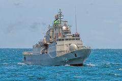 Prestes a completar 10 anos de serviço, a corveta Barroso V-34 é o ponto de partida para a nova classe de corvetas da Marinha do Brasil, denominada Tamandaré. (Foto: Roberto Caiafa)