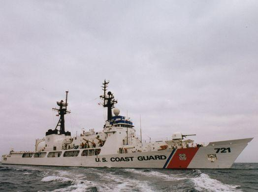The U.S. Coast Guard Cutter Gallatin, the largest and most capable Coast Guard vessel patrolling the Caribbean Sea, participated in Operation Martillo. (Courtesy of U.S. Coast Guard)