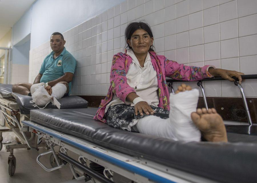 Honduran patients wait in the Dr. Mario Catarino Rivas National Hospital in San Pedro Sula, Honduras, on March 21, 2018, to be seen by doctors from U.S. Naval Forces Southern Command/U.S. 4th Fleet. (Photo: U.S. Navy Specialist First Class Mike DiMestico)