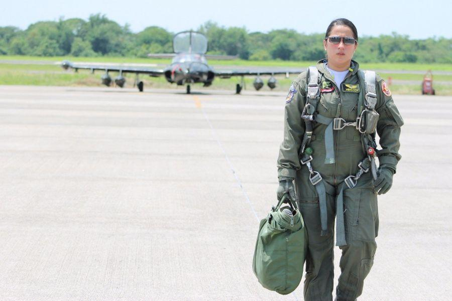 "First Lt. Mendoza's perseverance and family support were important factors in allowing her to complete the preparatory fighter pilot course in El Salvador. ""We women are also capable of overcoming any challenge, setting a goal, and carrying out any future mission that may come up,"" she said."