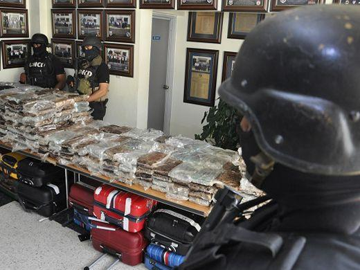 SANTO DOMINGO, Dominican Republic – Dominican counter-narcotics authorities found 680 kilograms of cocaine stashed inside 26 pieces of luggage on a Falcon 50 jet bound to leave Punta Cana airport for Puerto Rico on March 20. (Courtesy of DNCD)