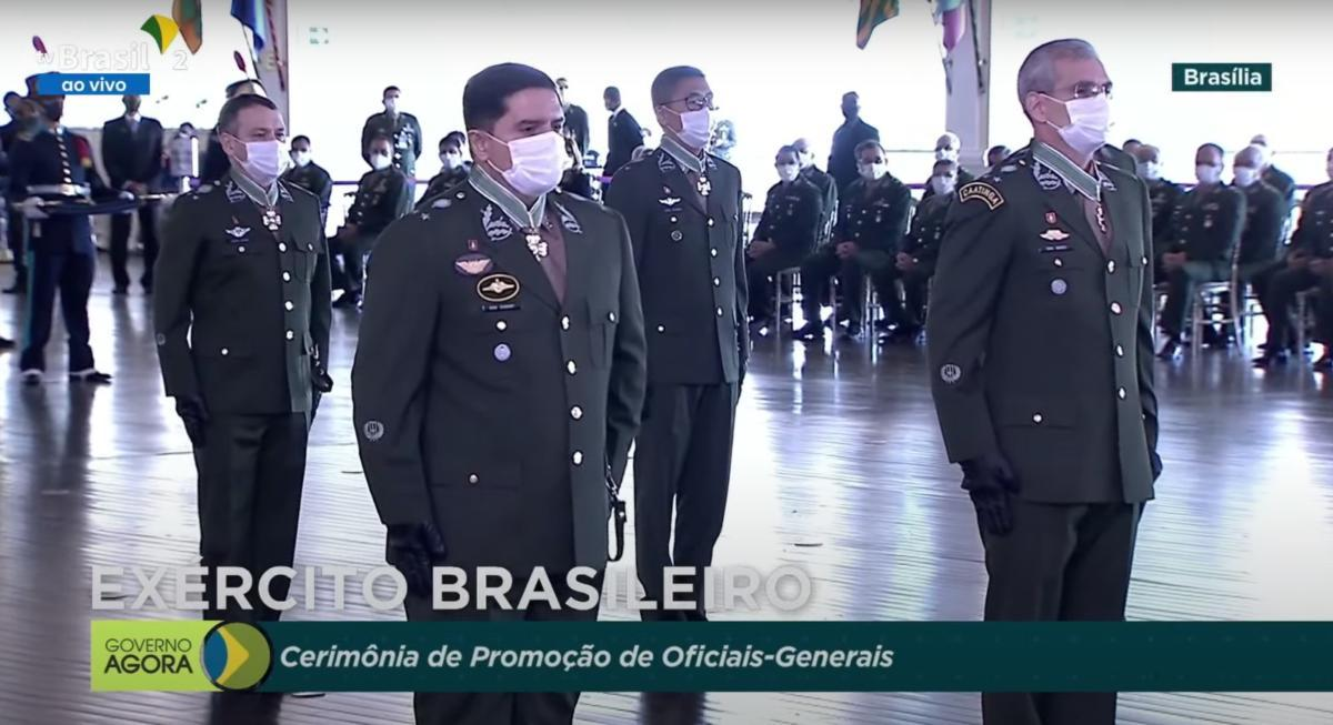 On August 12, 2021, Willian K. Kamei, former WHINSEC deputy commandant - Military Affairs, was promoted to Brigadier General with the Brazilian Army during a ceremony in Brazil. The event was presided by General Marcos Antonio Amaro Dos Santos, chief of the Brazilian Army, and attended by Brazilian President Jair Bolsonaro. (Photo: WHINSEC)