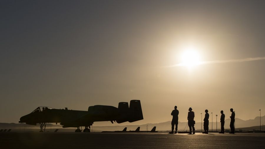 An US Air Force A-10 Thunderbolt II taxis after being armed during Green Flag. (Photo: U.S. Air National Guard Master Sgt. Joshua C. Allmaras)